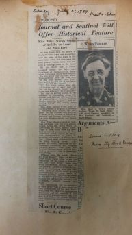 "This news article (July 31, 1937) announces Mary C. Wiley's upcoming feature series, ""From My Book Press"" and is one of many pages within her scrapbooks. Often the dates of the articles, and sometimes other notes, were handwritten in the columns"