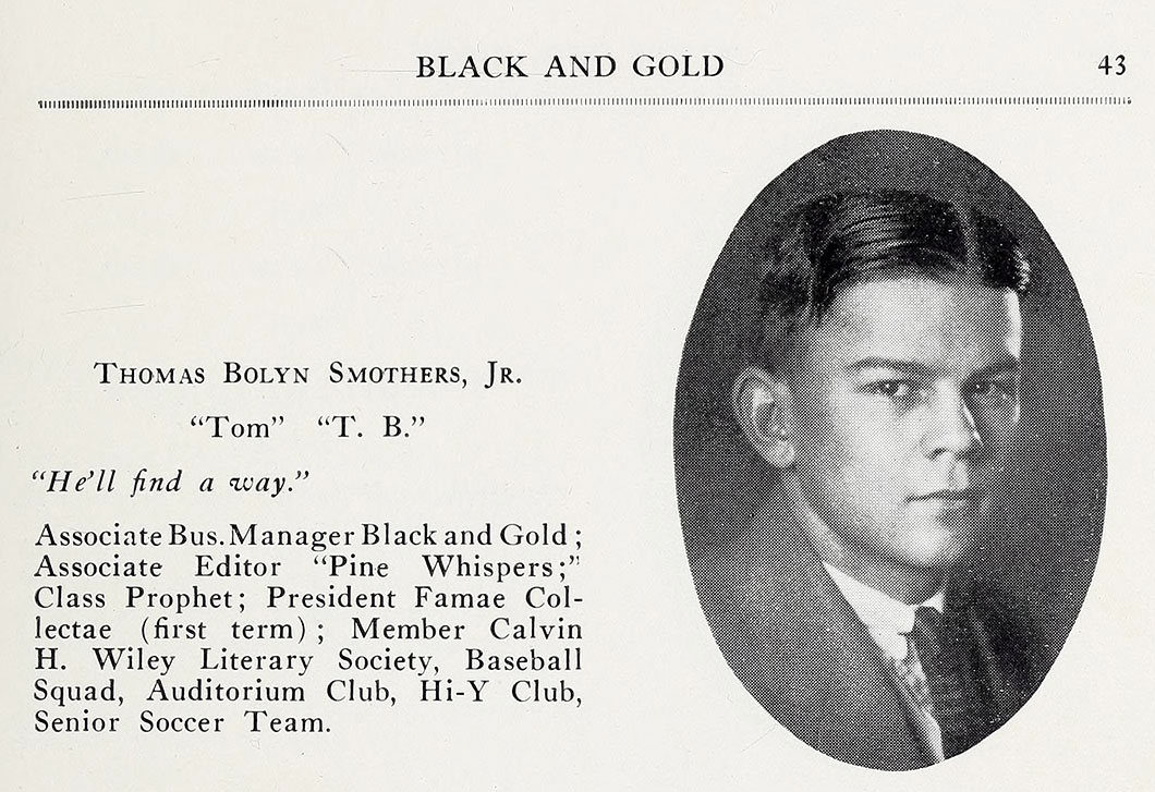 Black amp gold 1925 tom was known for his enormous vocabulary in the