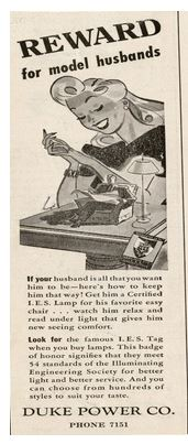 Duke advertisement from Junior League News, April 1942
