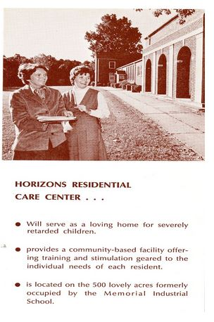 Horizons Residential Care Center brochure.