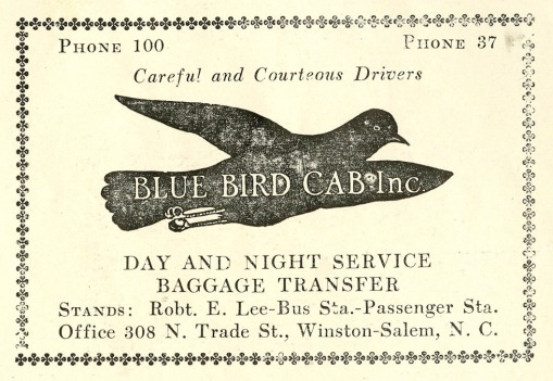 Blue Bird Cab Inc. advertisement .