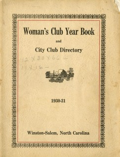 Cover of Woman's Club Year Book and City Club Directory, 1930-31