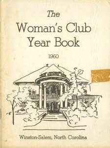 Cover of the 1960 Woman's Club Year Book with an illustration of the club's clubhouse on Fifth Street.