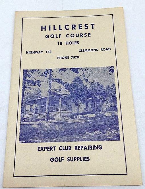 Vintage-Hillcrest-Golf-Course-Winston-Salem-Scorecard---eBay