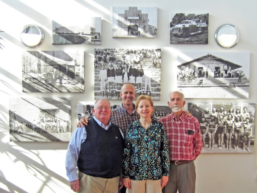 December 2015. The project is completed. Mike Morris (left to right), Daniel Baird, Natalia Tuchina and Wallace Baird.