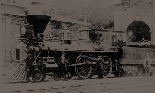 The first North Carolina Railroad train, 1856
