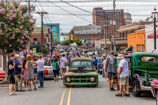 The Saturday car show during Heavy Rebel Weekender draws the most diverse crowd in the Twin City