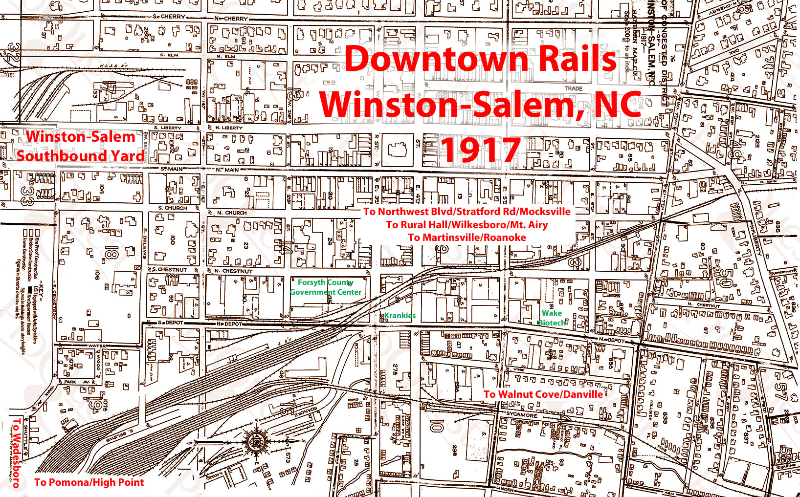Local rails then and now North Carolina Room Forsyth County