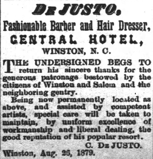 The famous De Justo operated in the basement of the Central Hotel