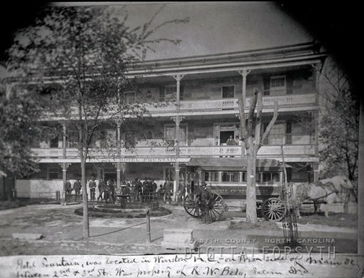 Robert Belo's upgraded Fountain Hotel...Forsyth County Public Library Picture Collection...