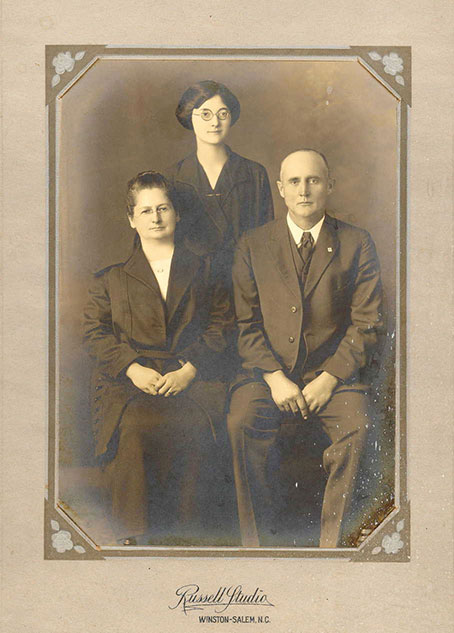 Henry, Addie and Kathleen Burke, 1920s