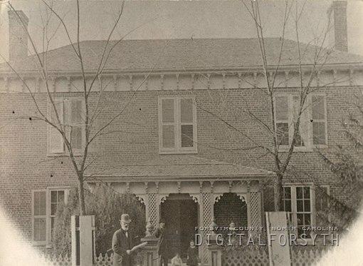 The James A. Gray House...left to right, Wyatt Bowman, James A. Gray, Bess Gray, Mamie Gray, Aurelia Bowman Gray