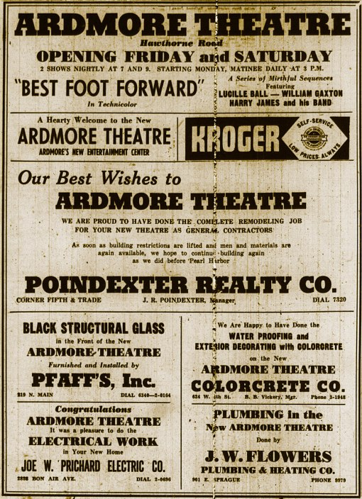 This ad ran in the Winston-Salem Journal and the Twin City Sentinel on Friday, August 10, 1945
