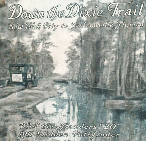 Cover of the booklet that guided the drivers in the 1911 Glidden Tour
