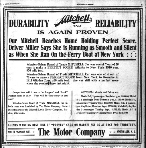 Winston-Salem Journal, October 19, 1911