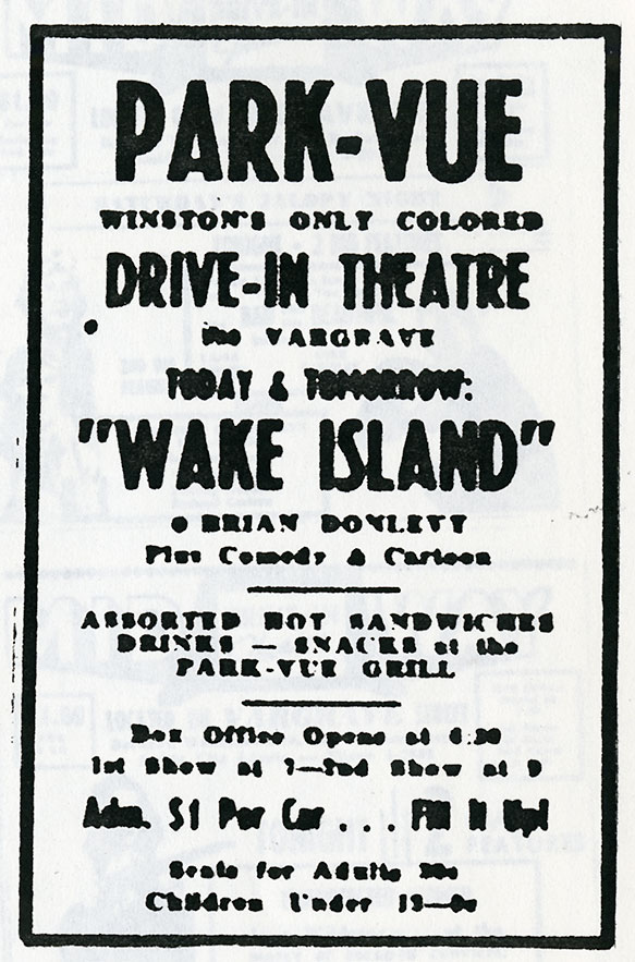 twin city theaters 1843 2017 north carolina collection 1960 Drive in Theater the park vue drive in opened march 22 1951 on vargrave street it was designated as the first local drive in for black patrons it closed after one season