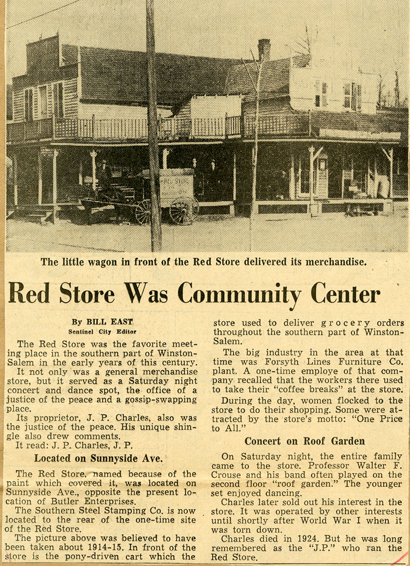 The Red Store Ca 1915 North Carolina Collection