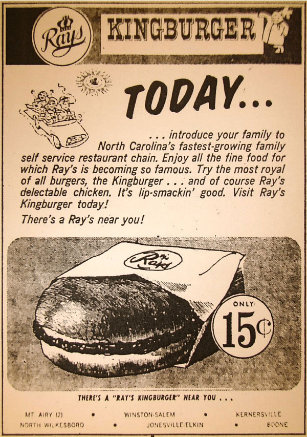 Ray's Kingburgers come to K'ville… – North Carolina Collection